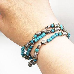 Lucky Brand • Turquoise Beaded Boho Bracelet